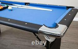 Hathaway Fairmont Portable 6-Ft Pool Table Families Includes Balls, Cues, Chalk