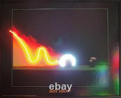 Hot shot neon LED Lighted Billiards Art sign pool balls Mancave billiard light