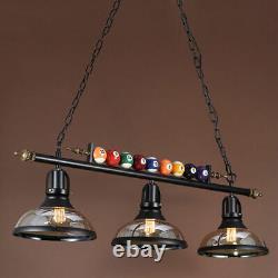 Industrial Metal Ball Design Billiard Lamp Pool Table Light Glass Shade Hot