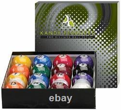 Kandy Pearl Pool Ball Set Billiards Professional Balls Standard Home Use Swirl