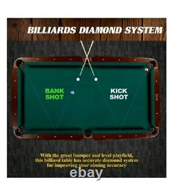 MD SPORTS 90 Ball & Claw Leg Pool Table Cue Rack Dartboard Billiards Sports