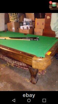 Md sports pool table with pool balls md sticks
