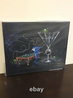 Michael Godard POOL SHARK II Billiards-Eight Ball-Martini-Cigar-Art