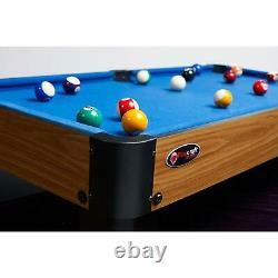 Mini Pool Table Blue Cloth Kids Billiards 20 x 40 Miniature Cues Pool Ball Set