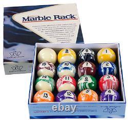 NEW Elephant Balls Marble Rack 2 1/4 Pool Billiard Balls Set + FREE Shipping