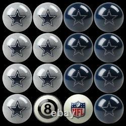 NFL Dallas Cowboys Pool Ball Billiards Balls Set with FREE Shipping