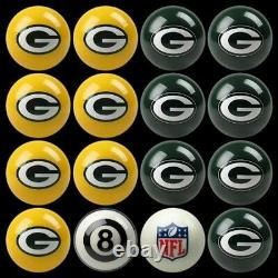 NFL Green Bay Packers Pool Ball Billiards Balls Set with FREE Shipping