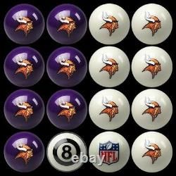 NFL Minnesota Vikings Pool Ball Billiards Balls Set with FREE Shipping