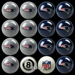 NFL New England Patriots Pool Ball Billiards Balls Set with FREE Shipping