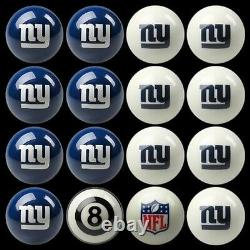 NFL New York Giants Pool Ball Billiards Balls Set with FREE Shipping