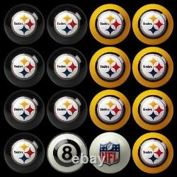 NFL Pittsburgh Steelers Pool Ball Billiards Balls Set with FREE Shipping
