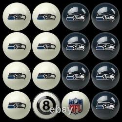 NFL Seattle Seahawks Pool Ball Billiards Balls Set with FREE Shipping