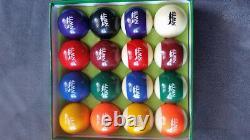 NWTF Wild Turkey Federation Custom Billiard Pool Balls Rare