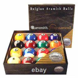 New Aramith Tournament Belgian Pool Balls Set Free Shipping & Free Rule Booklet