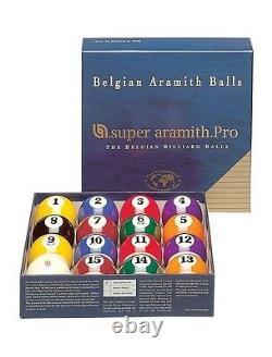 New Belgian SUPER ARAMITH PRO Pool Balls Set BRAND NEW Billiard SAPS