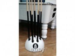 New Circular Giant White Cue Ball Rack Stand Snooker Billiard Pool Table 9 Cues