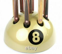 New Giant Golden 8 Ball Cue Rack Stand Snooker Billiard Pool Table 9 Cues
