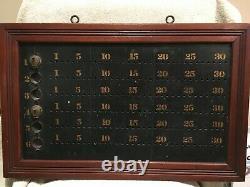 Original Antique Billiard Ball Pin Pool Scoreboard Brunswick Balke Collender