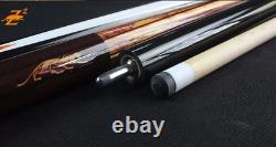 PREOAIDR 3142 Z2 Billiard Pool Cue Stick 13mm/11.5mm Tip Black/White Nine Ball