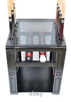 Pool Cue Rack Only 10 Billiard Stick & Ball Set Holder Floor Stand