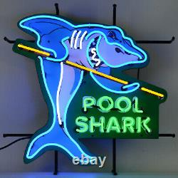 Pool Shark Neon sign Billiards wall lamp light Pool Table art Hustler cue balls