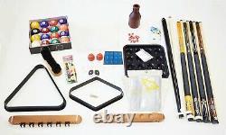 Pool Table Best Deluxe Billiard Accessory Kit Pool Cue Sticks Bridge Ball Sets