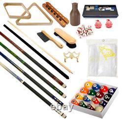 Pool Table Premium Billiard Accessory Kit Pool Cue Sticks Bridge Ball Sets