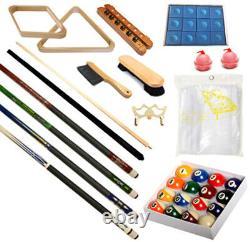 Pool Table Premium Billiard Accessory Kit Pool Cues Tips Bridge Ball Sets Kit-2