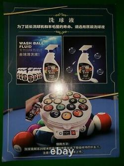 Pool snooker full set ball polish cleaning cleaner machine new with accesssories