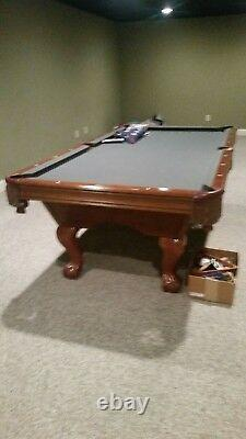 Pool table With ball and claw feet