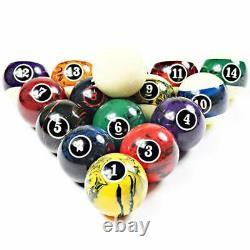 Professional Blossom Tournament American Style Billiard Pool Ball set(2 1/4)