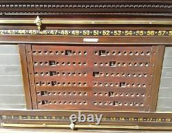 RARE antique English Thurstone Billiard Snooker scoreboard with Pool balls