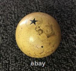 Rare Vintage Black Star Clay Billiards Pool Cue Ball Gear Shifter Shift Knob