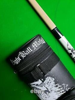 Skulls Cue Eight Ball Mafia Pool Cue And Case New