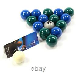 Special Aramith Green And Blue Pool Balls + Silver 8 Ball Home Pool Tables