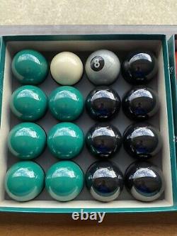 Special Exclusive Aramith Pool Balls Green & Black + Silver 8 Ball