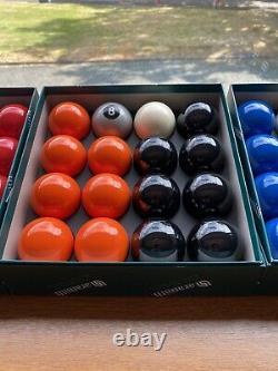 Special Exclusive Aramith Pool Balls Orange & Black + Silver 8 Ball
