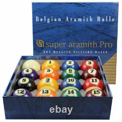 Super Aramith Pro Belgian Billiard Pool Balls Set FREE SHIPPING