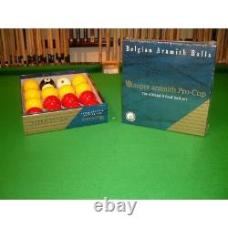 Super Aramith Pro-Cup Pool Balls, Official Match Balls Chesworth Cues, Sheffield