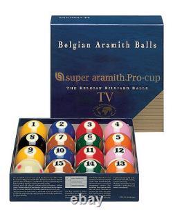 Super Aramith Pro-Cup TV Belgian Billiards Pool Ball Set SATS