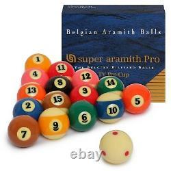 Super Aramith Pro-Cup TV Billiard Pool Ball set 2 1/4