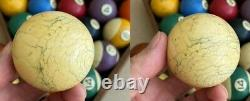 Three (3) Old Antique Pool Table Billiard Balls Carom Game Cue Ball Brunswick