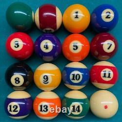 USED Super Aramith Pro Pool Balls Belgian billiard #615 FAST Free SHIP
