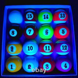 UV Reactive Glow 2 Spots and Stripes Pool Ball Set UK supplier