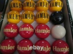 Very Rare Hamlet Cigar Vintage Pool Balls 1 7/8 48mm in perfect condition 30YRS