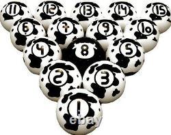 Vigma Cowpoke Cow Pool Balls Set Billiards Ball Sets with FREE Shipping