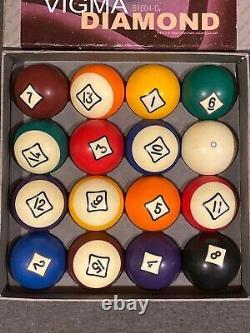 Vigma Diamond Pool Balls (B164-D) 16 2-1/4 USED