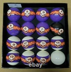 Vigma Flaming Skull Pool Balls Set Billiards Balls Set with FREE Shipping