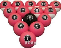 Vigma Hot Pink Pool Balls Set Billiards Balls Set with FREE Shipping