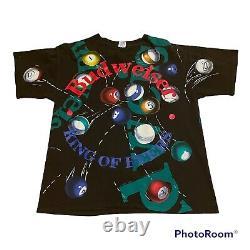 Vintage 90s Budweiser Shirt Pool Balls All Over Print Single Stitch XL AOP 1992